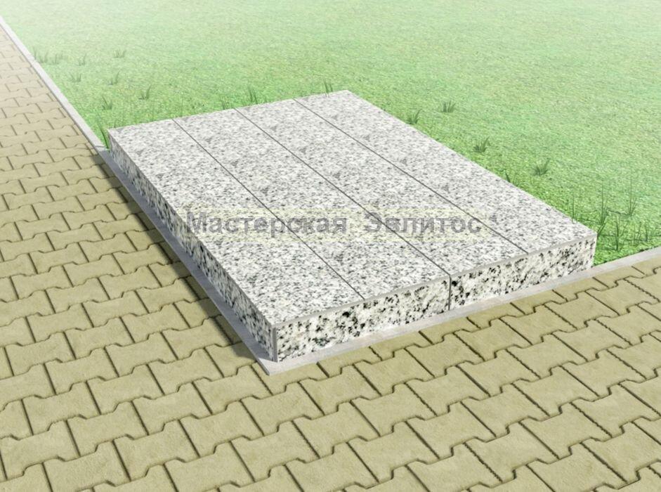 Надгробие из серого гранита №8
