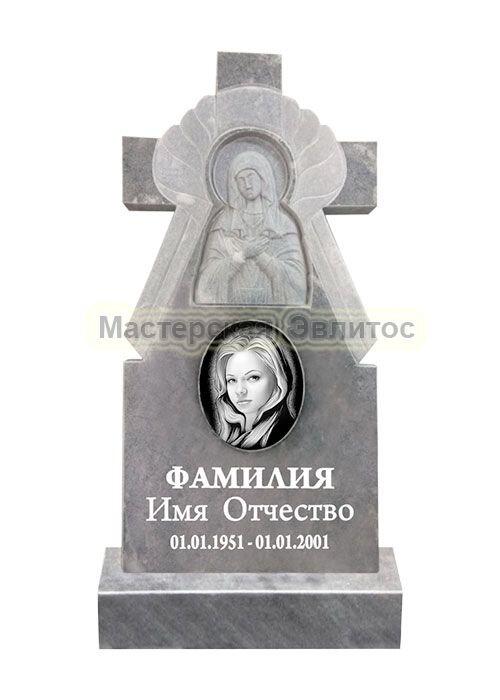 Фрезерованный памятник из мрамора Крест 11