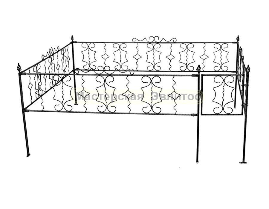Металлическая ограда Т16