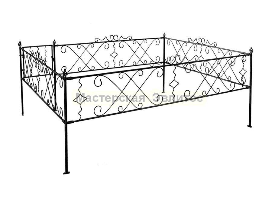 Металлическая ограда Т17