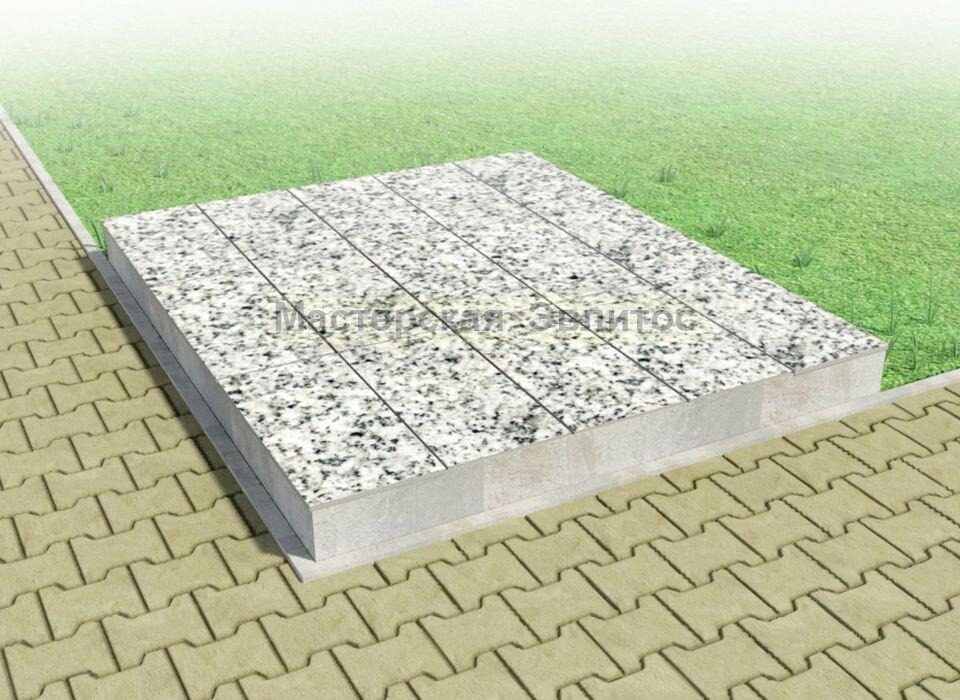 Надгробие из серого гранита №11