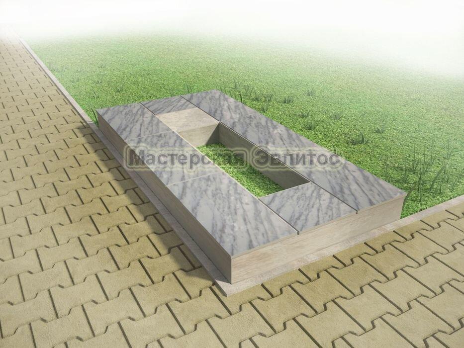 Надгробие из серого мрамора №1