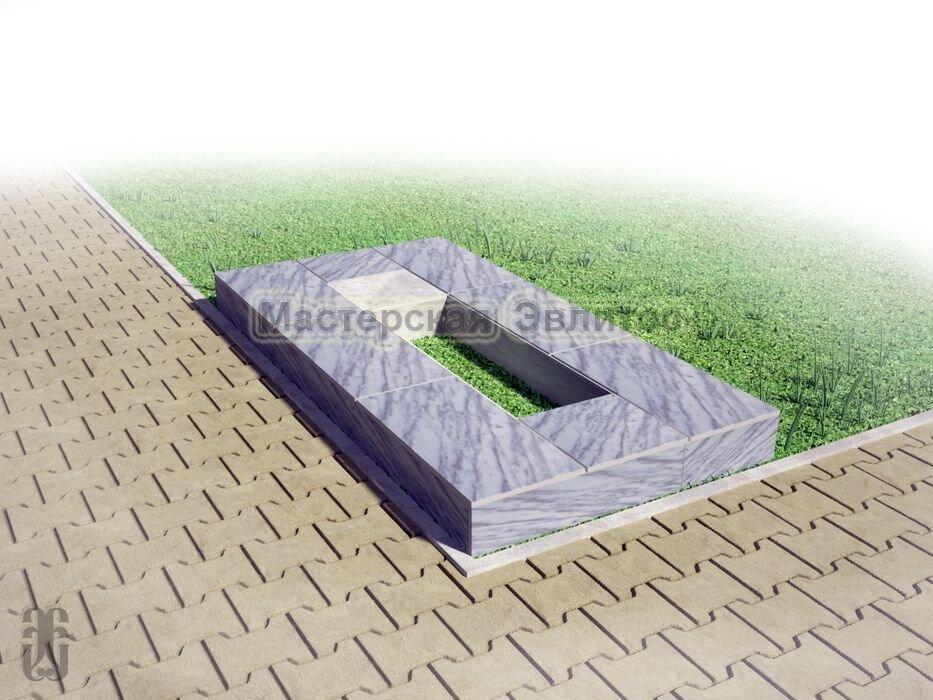 Надгробие из серого мрамора №2