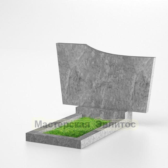 Мраморный горизонтальный памятник №207