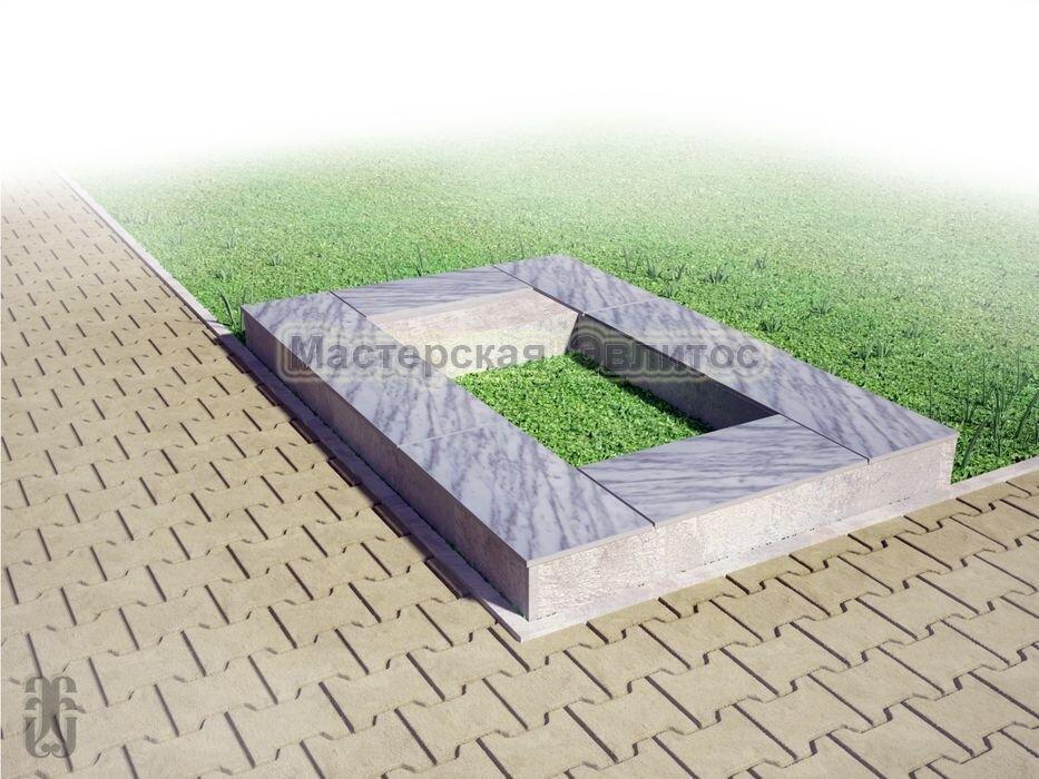 Надгробие из серого мрамора №5