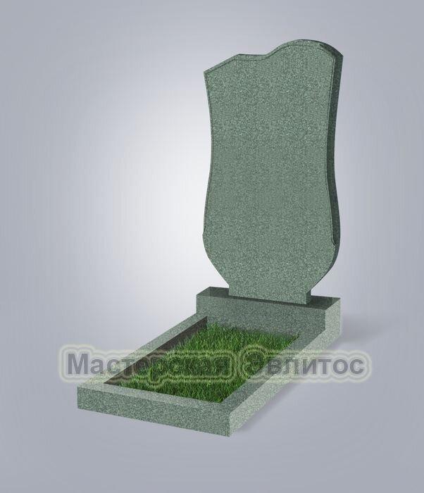 Памятник №15 (зеленый гранит)