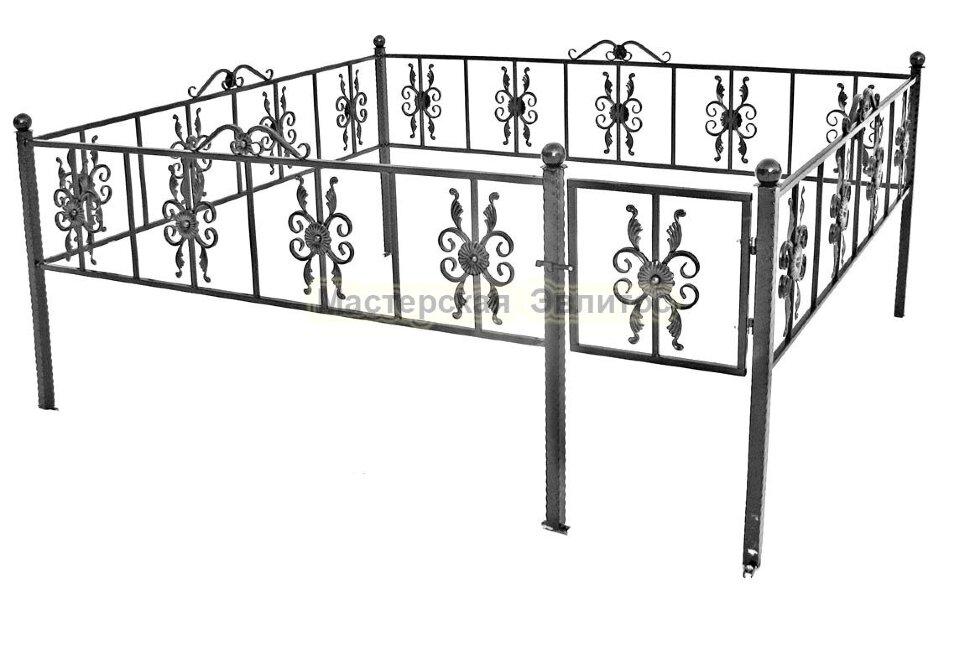 Металлическая ограда Т24