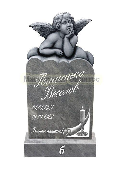 Фрезерованный памятник из мрамора Ангел 12Б