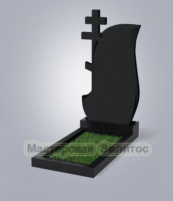 Памятник №77 (черный гранит)