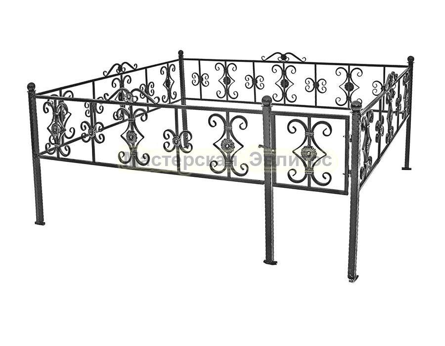 Металлическая ограда Т25