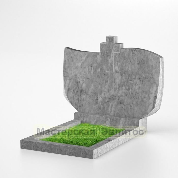 Мраморный горизонтальный памятник №210