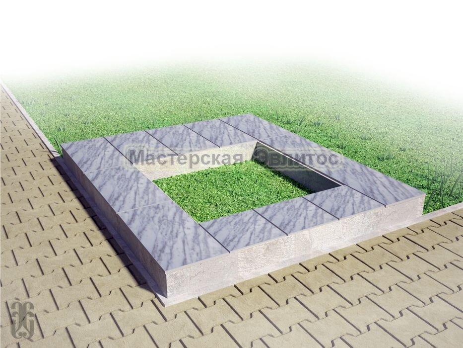 Надгробие из серого мрамора №9