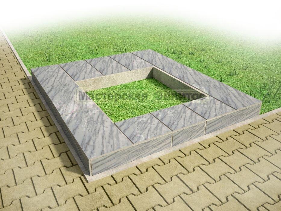 Надгробие из серого мрамора №10