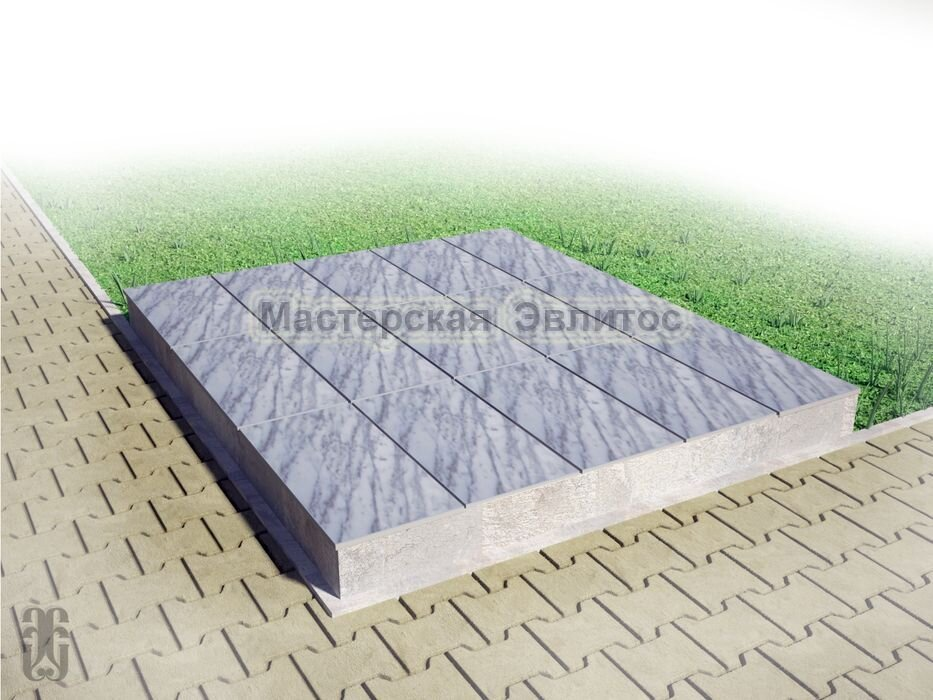 Надгробие из серого мрамора №11