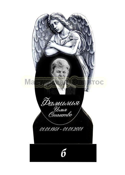Фрезерованный памятник из гранита Ангел №12