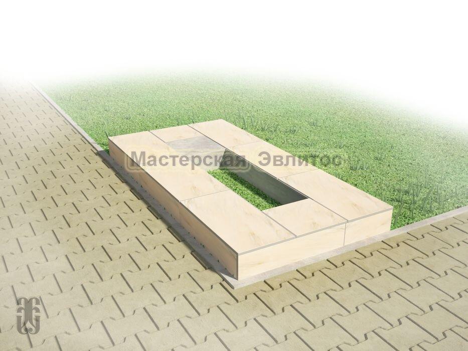 Надгробие из бежевого мрамора №2