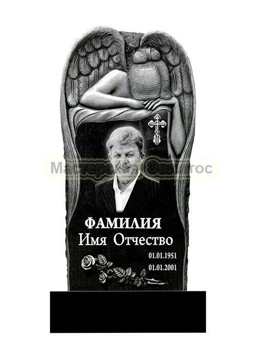 Гранитный памятник с ангелом №16