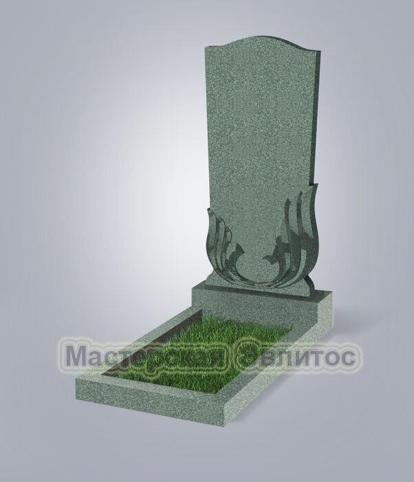 Памятник №32 (зеленый гранит)
