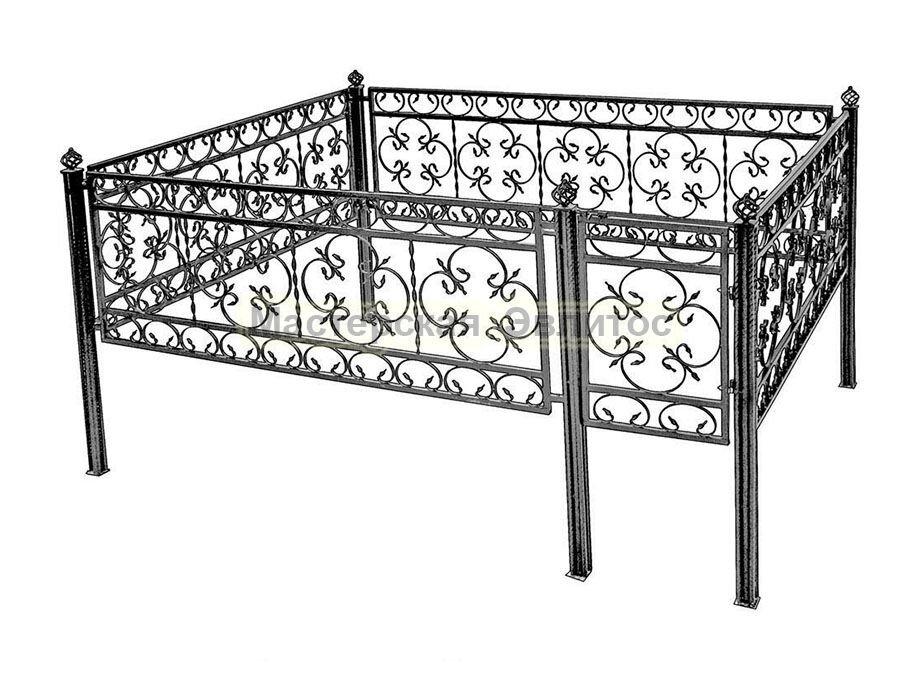 Металлическая ограда Т33