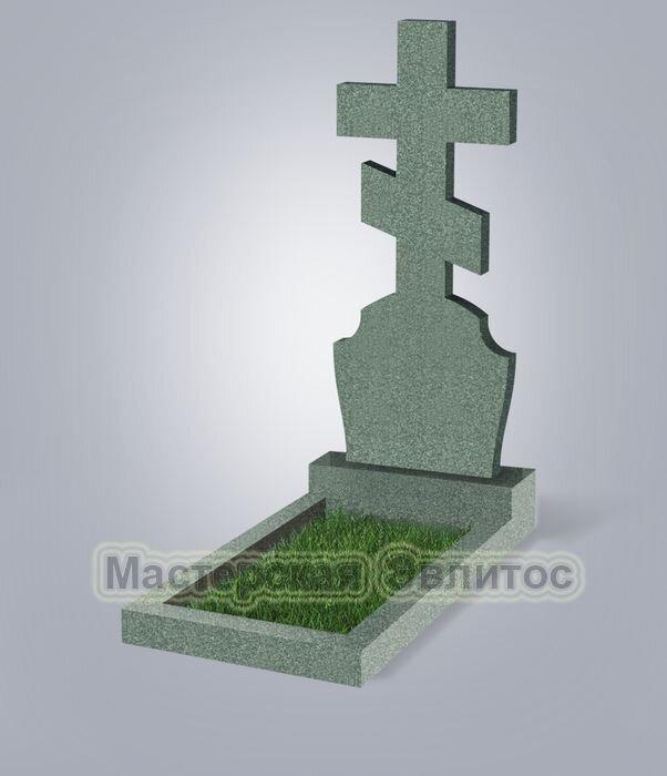 Памятник №40 (зеленый гранит)
