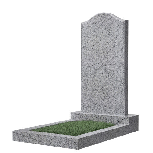 """Фигурный памятник класса """"эконом"""" №22 (светло-серый гранит)"""