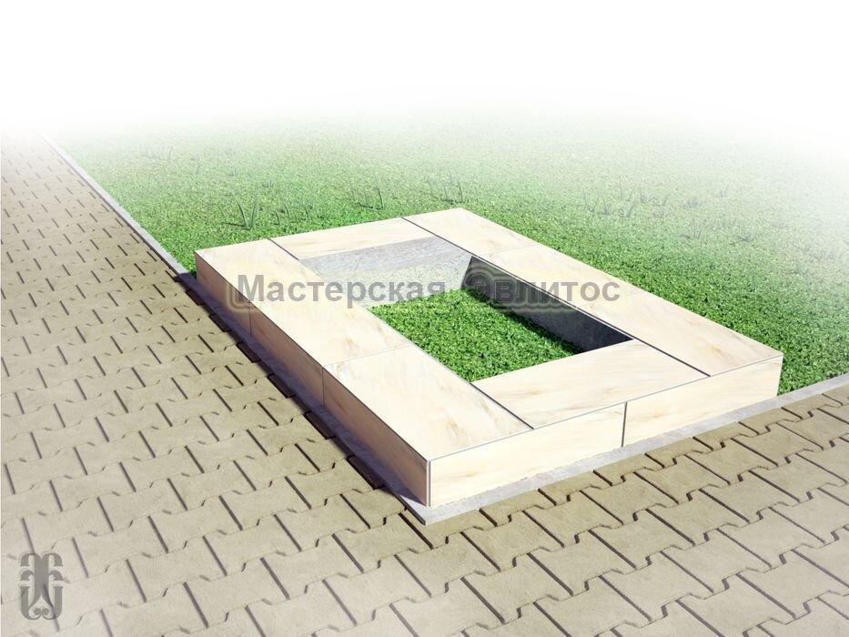 Надгробие из бежевого мрамора №6