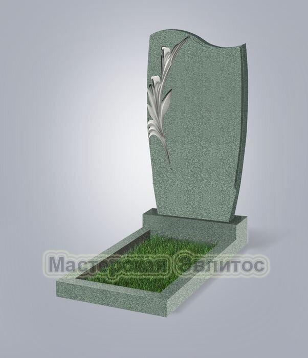 Памятник №42Е (зеленый гранит)
