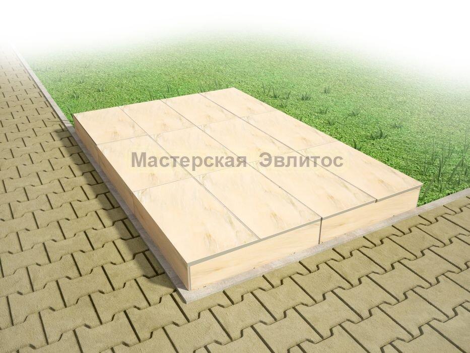 Надгробие из бежевого мрамора №8 - 1800х1200х150 мм в Томске