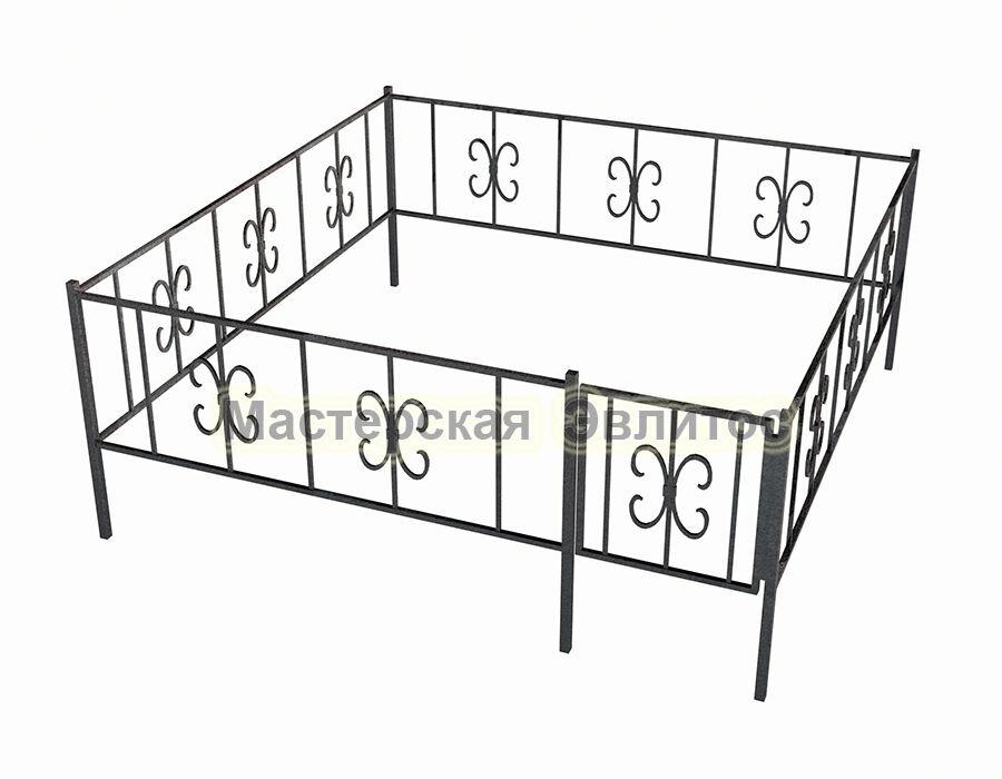 Ограда ритуальная Узор №7