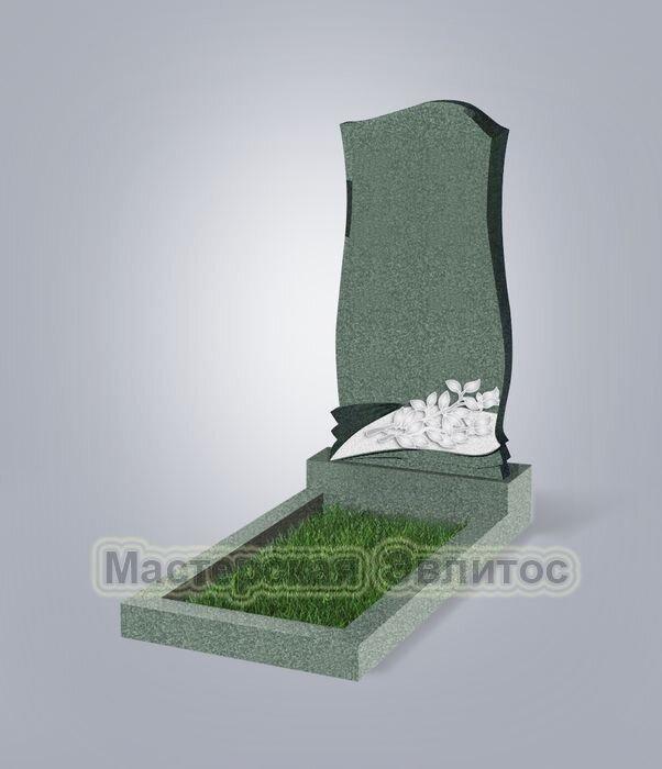 Памятник №48Е (зеленый гранит)