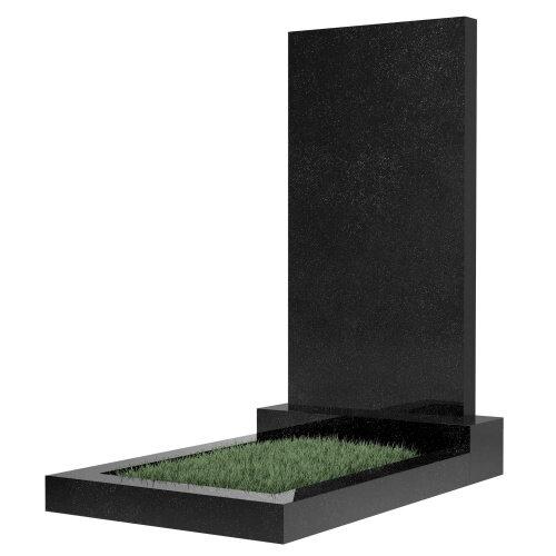 Памятник прямоугольный вертикальный 800*400*70 (черный гранит Карелия)