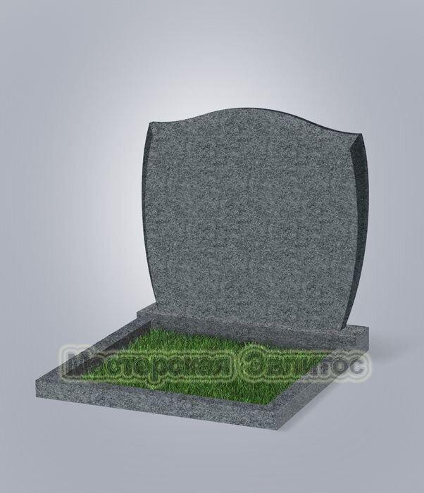 """Памятник двойной класса """"эконом"""" №46 (темно-серый гранит G654)"""