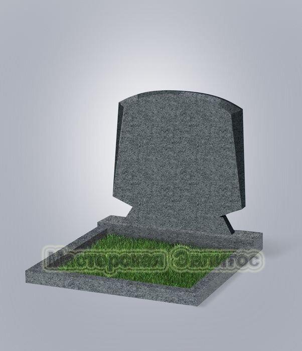 """Памятник двойной класса """"эконом"""" №66 (темно-серый гранит G654)"""