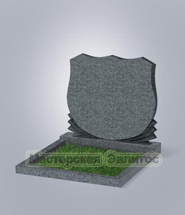 """Памятник двойной класса """"эконом"""" №86 (темно-серый гранит G654)"""