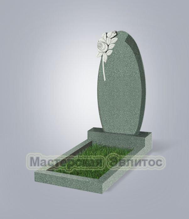 Памятник №61 (зеленый гранит)