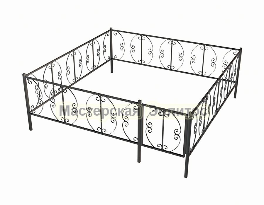 Ограда ритуальная Узор №16