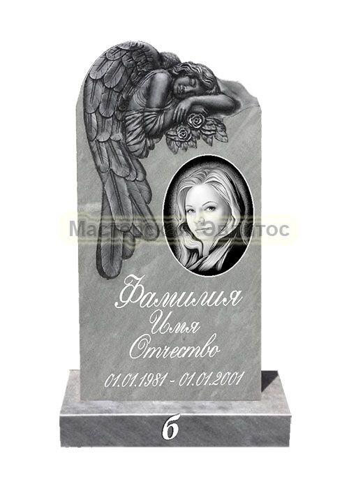 Памятник из мрамора Ангел 3Б (фрезерованный) в Томске