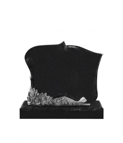Памятник элитный №7 (черный гранит)
