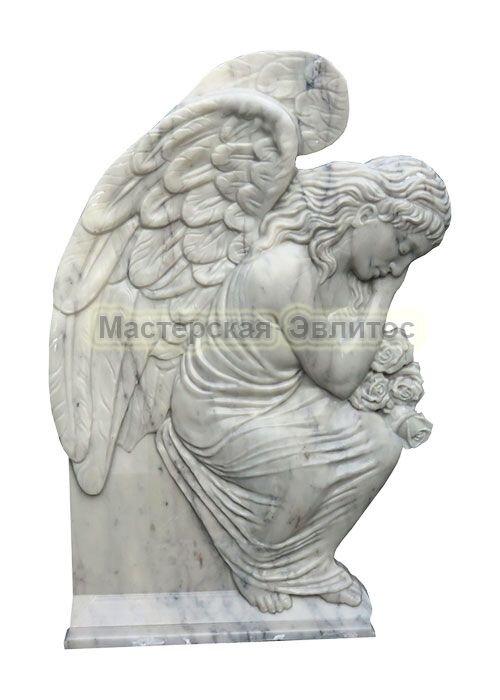 Памятник из мрамора Ангел 4 (фрезерованный) в Томске
