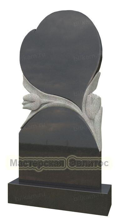 Гранитный памятник в виде сердца СК-182 в Томске
