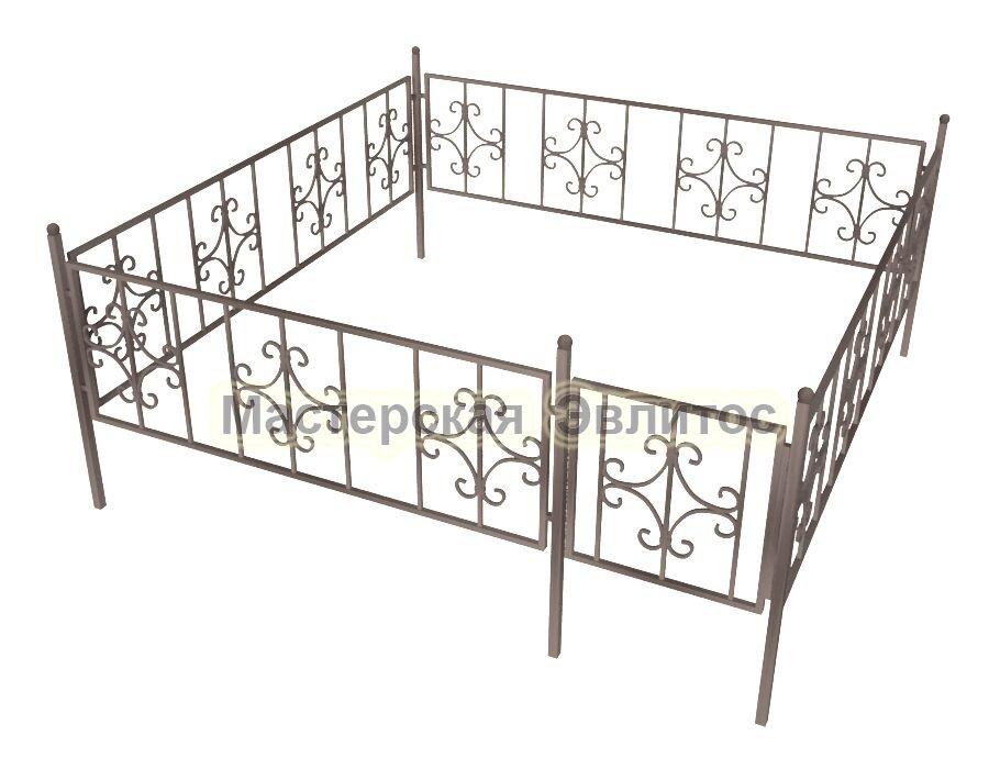 Ограда кованая К6