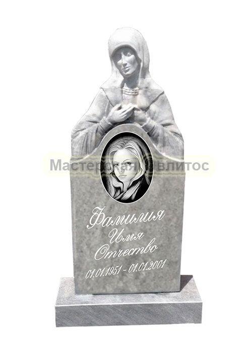 Фрезерованный памятник из мрамора Скорбящая 3