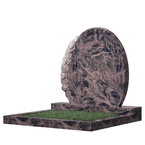 Семейный памятник №63 (коричневый гранит)