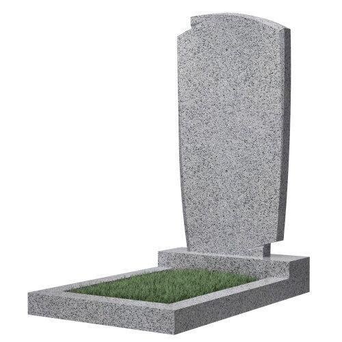 """Фигурный памятник класса """"эконом"""" №39 (темно-серый гранит)"""