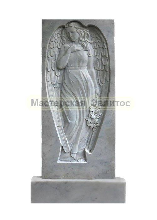Фрезерованный памятник из мрамора Ангел 6