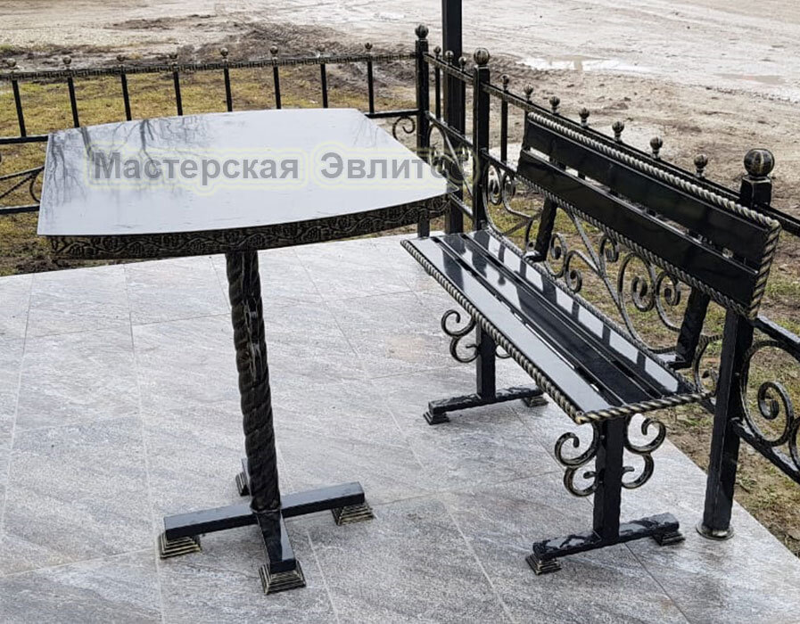 Скамейка со спинкой МВК №3