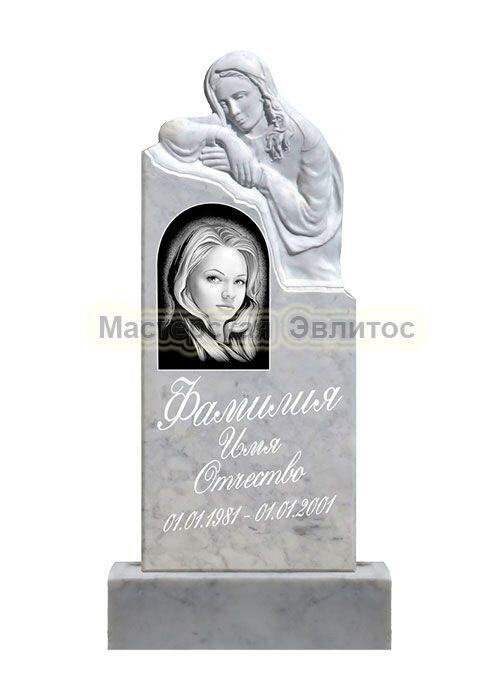 Фрезерованный памятник из мрамора Скорбящая 6А