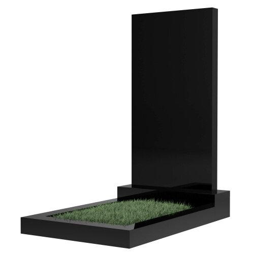 Памятник прямоугольный вертикальный 800*400*50 (черный гранит)