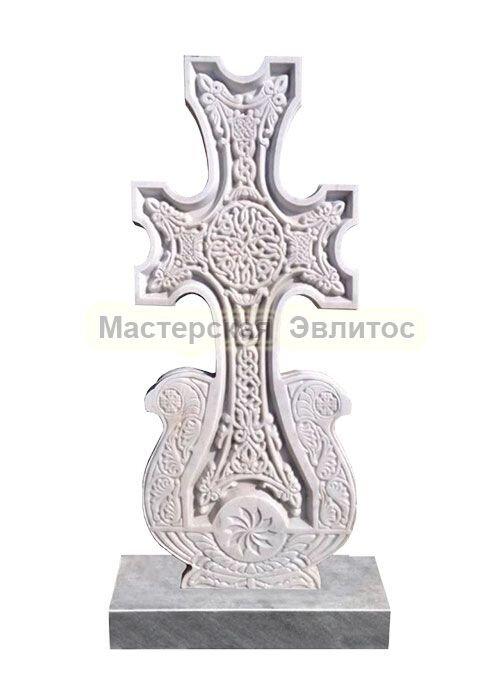 Фрезерованный памятник из мрамора Хачкар