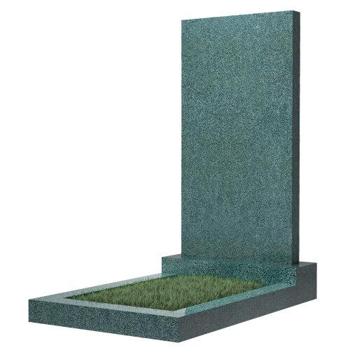 Памятник прямоугольный вертикальный 1100*500*70 (зеленый гранит)